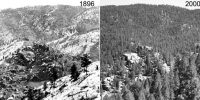 2 photos of a mountain 104 years apart