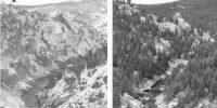 two canyon photos, decades apart