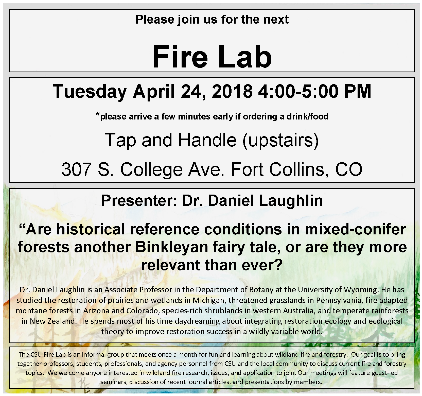Fire Lab flyer April 28 2018